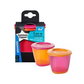 Pop Up Weaning Pots Tommee Tippee (2 pieces)
