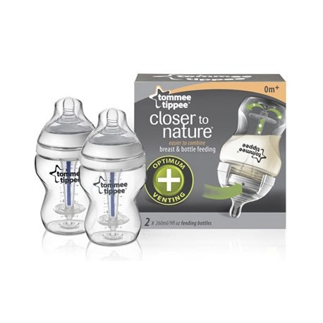 Biberons Twin Pack Anticoliques 260ml Tommee Tippee