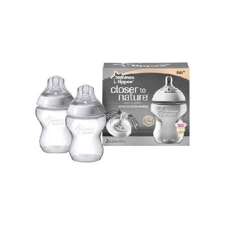 Zuigflessen 260 ml Tommee Tippee Twin Pack