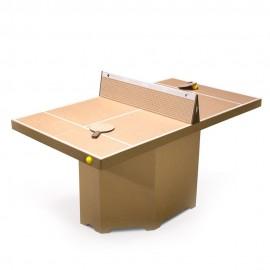 Table ping-pong/mini-tennis carton brun