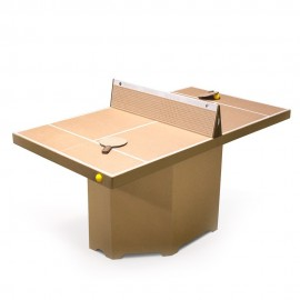 Table ping-pong/mini-tennis carton brun