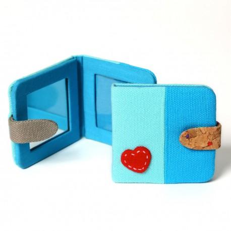 Miroir de poche avec cadre photo Blue Mix