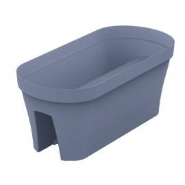 Pot pour balcon 60 cm ardoise