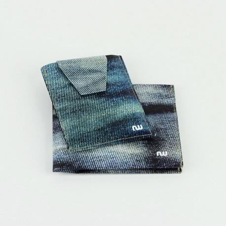 Box portefeuille + porte-cartes Jeans
