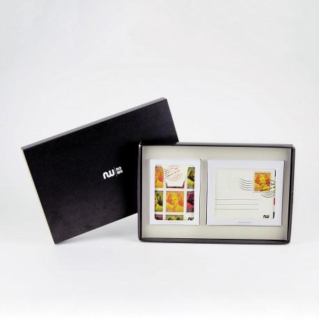 Box portefeuille + porte-cartes Belgian Stamp
