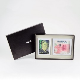 Box portefeuille + porte-cartes Hi James & Hi René