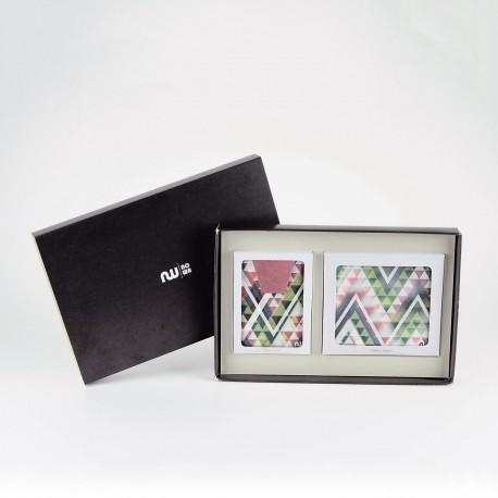 Box portefeuille + porte-cartes Up & Down
