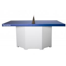 Table ping-pong/mini-tennis carton blanc et bleu