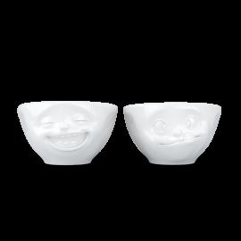 Set 2 Small Bowls Happy & Grumpy