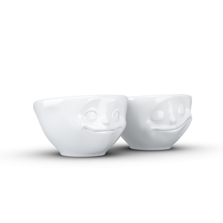 Set 2 Small Bowls Kiss & Grinning