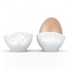 2 Ontbijt Eierdopjes Humeur Set