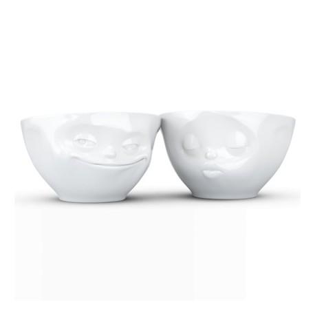 Set 2 Bowls Grinning & Kiss