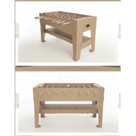 Soccer/Football Table Recycled Brown Cardboard